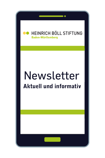 Handy mit Schrift Newsletter